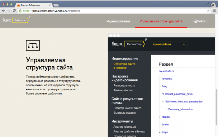 Яндекс Вебмастер (beta)